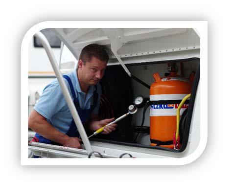 Auch für ihr Wohnmobil oder Anhänger bieten wir jeden Service an. So bieten wir u.a. Gasprüfungen oder Dichtheitsprüfungen an.
