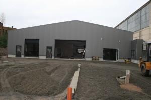 Die Außenanlage während der Bauzeit
